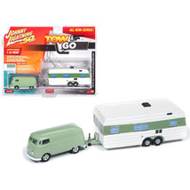 1965 Volkswagen Type 2 Transporter Birch Green with Vintage House Traile... - $33.21