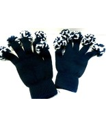 Gloved Pom Poms Blue/White One Size Fits All see Photos! - $4.37