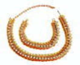 Vintage 1940s 50s Retro Moderne Goldtone & Rhinestones Necklace & Bracel... - $95.00
