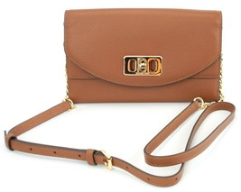 Michael Kors Karson Brown Cross Body Shoulder Bag Medium Handbag Leather - $209.72