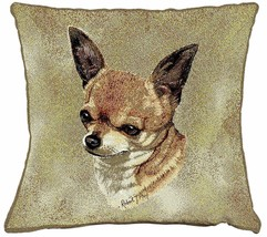 "Chihuahua Pillow Pure Country Weavers 17"" x 17""  100% Cotton Dog Breed - $19.50"