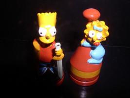 The SimpsonsLBart  & Lisa Simpson red Base 2 PVC Figurines - $9.99