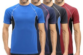 Men's Cool Quick-Dry Gym Workout Sport Running Breathable Performance T-shirt image 1