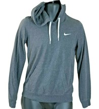 Nike Boys Youth size Small Dri-Fit Fleece Gray Hooded Pullover Hoodie Sw... - $20.78