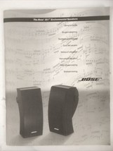 The Bose 251 Environmental Speakers System Owner's Guide Manual 2000 - $7.91