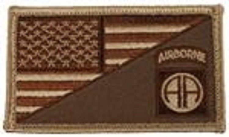 Primary image for ARMY 82ND AIRBORNE DESERT FLAG 2 X 3  EMBROIDERED PATCH WITH HOOK LOOP