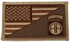 ARMY 82ND AIRBORNE DESERT FLAG 2 X 3  EMBROIDERED PATCH WITH HOOK LOOP - $23.74