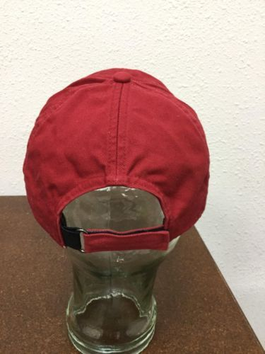 Columbia Edgewater Mens One Size Hat Red Sport Golf Adjustable Ivory Ball Cap