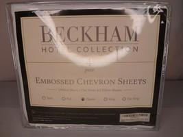 Beckham Hotel Collection Embossed Chevron Sheet Set - Queen - 4 Piece - White - $34.95
