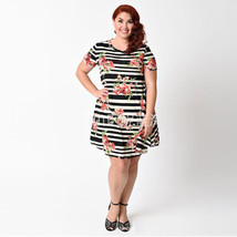 Women Summer Dress Casual O Neck Short Sleeve Plus Size Loose Dresses Fashion - $16.06