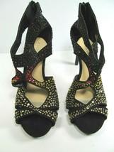 Gianni Bini Womens Open Toe Heavily Embellished Rhinestone Heel Pumps US 8.5 M - $28.42