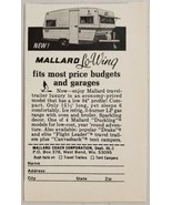 1968 Print Ad Mallard Lo-Wing Travel Trailers West Bend,Wisconsin - $9.28