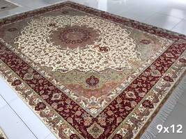 9' x 12' Silk Red Traditional Oriental Persian Rug Hand Knotted Handmade Carpets - $5,500.00