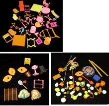 Mattel Barbie Accessories Lot 1970s 1980s Beauty Salon Campire Dishes Etc - $42.99