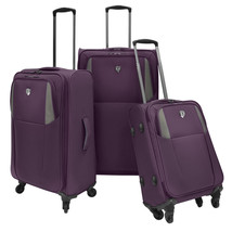 Travelers Choice Forza 3pc Purple Ultra Lightweight Spinner Luggage Suit... - $148.49