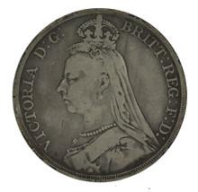 1889 Queen Victoria Great Britian British Crown Silver Coin 28.28g - $56.06