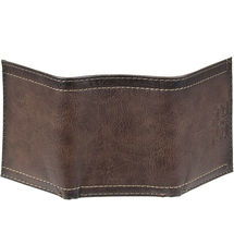Levi's Trifold RFID Embossed Two Horses Logo Brown Credit Card Wallet for Men image 5