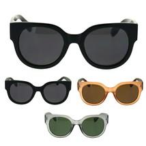 Womens Thick Plastic Round Boyfriend Horn Rim Sunglasses - $9.95