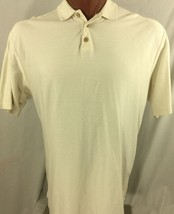 Tommy Bahama Cream Silk Blend Polo Shirt Diagonal Lines XL X-Large - $42.43