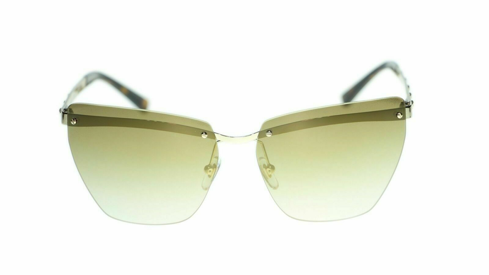 Versace Sunglasses VE2190 Pale Gold Gray Gradient 125211 Authentic New