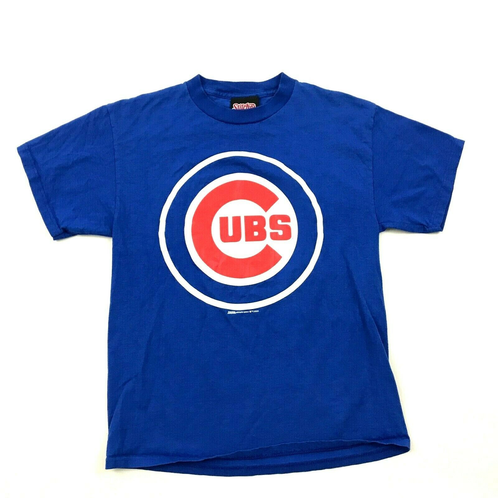 Primary image for Stitches Athletic Gear Chicago Cubs Shirt Adult Medium M MLB Baseball Team Tee