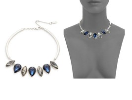 $65 Kenneth Cole New York Twilight Collection BLUE/GRAY Crystal NECKLACE**1 Left - $49.99