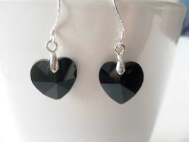 Black Heart Earrings, Claddagh Earrings,  State... - $19.99