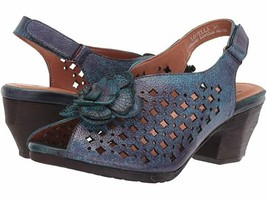 HTF! L'ARTISTE SPRING STEP LOVELLA BLUE SLINGBACK SANDALS SHOES WOMEN'S ... - $81.18