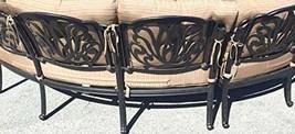 Cast Aluminum Curved Outdoor Sofa Elisabeth 2 Piece Patio set Desert bronze image 2