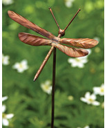 Flamed  Steel Metal Dragonfly Garden Art Decorative Stake 5'' x 27''H. - $39.60