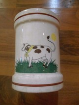 Old Vintage Cow Pottery Tumbler Cup Handcrafted by Landmark Designs plan... - $9.99