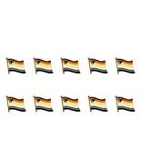 """LOT OF 10 BEAR PRIDE FLAG LAPEL PIN 0.5"""" Hat Tie Tack Badge LGBT Gay Bro... - $19.99"""