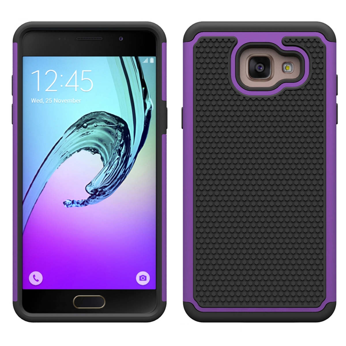 Roof dual layer rugged protective case for samsung galaxy a3 2016 a310 purple p20160224161905619