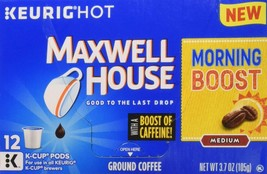 Maxwell House Coffee K-Cup Pods, Morning Boost, 3.7 Ounce - $16.36