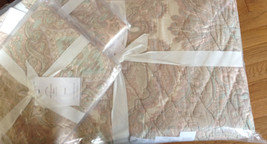 Pottery Barn Audrey Quilt Set Pink Mauve King 2 King Sham Paisley Pink Blush  - $328.00