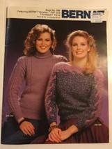 Bernat Book #296 Knitting Pattern Book Ladies Sweaters 1980's Experienced  - $4.94
