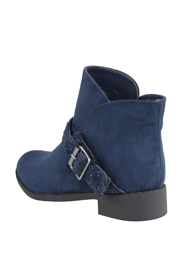 London Rag Women's Blue Round Toe Bootie