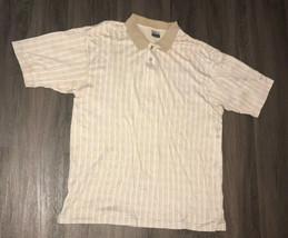 Nike Tan Short Sleeve Pattern Polo Golf Mens Large  - $19.80