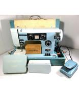Dressmaker Deluxe Push Button Zig-Zag SWA-2000 Heavy Sewing Machine w/ E... - $252.40