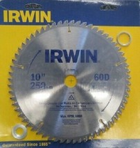 "Irwin 15198-D 10"" X 60D Tooth TCG Grind Non-Ferrous Circular Saw Blade 1... - $23.76"