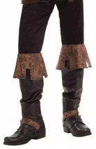 Renaissance Fair Deluxe Boot Tops Brown Medieval boot Covers NEW In Package - $14.78