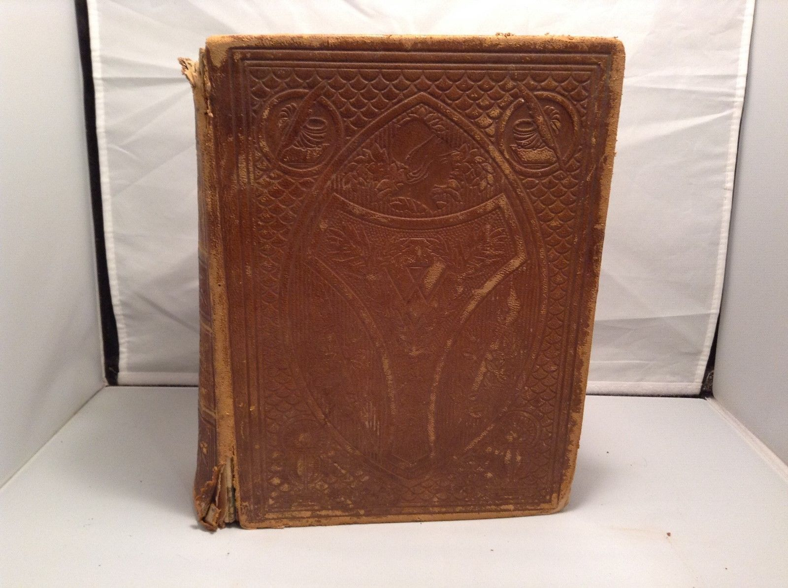 Antique Leather Bound Webster Dictionary