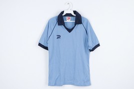 NOS Vtg 70s Patrick Spell Out Short Sleeve Soccer Jersey Carolina Blue M... - $44.50
