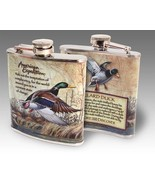 American Expedition Mallard Duck Steel Hip Flask 6 oz NIB Men's Gift Dad... - $22.72