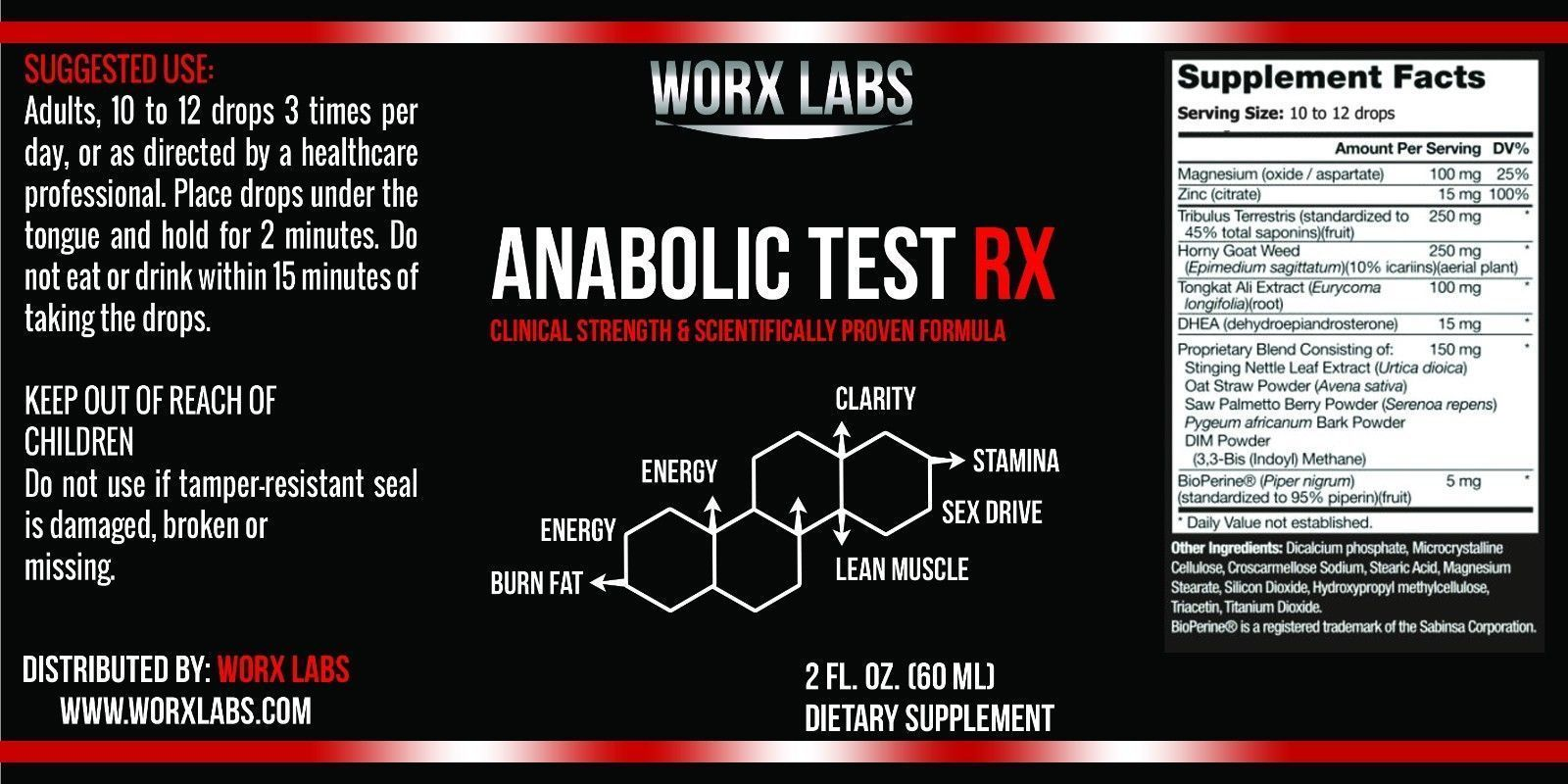 X Labs® Anabolic Testosterone Booster Get Ripped Lose Fat ...