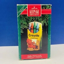 Hallmark Keepsake Christmas ornament vtg box 1991 Crayola bright carols ... - $11.60