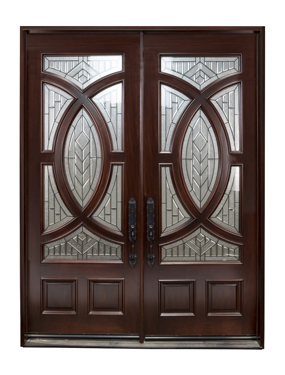 680a 30 x80 x2 right hand swingin mahogany double front - 30 x 80 exterior door with pet door ...