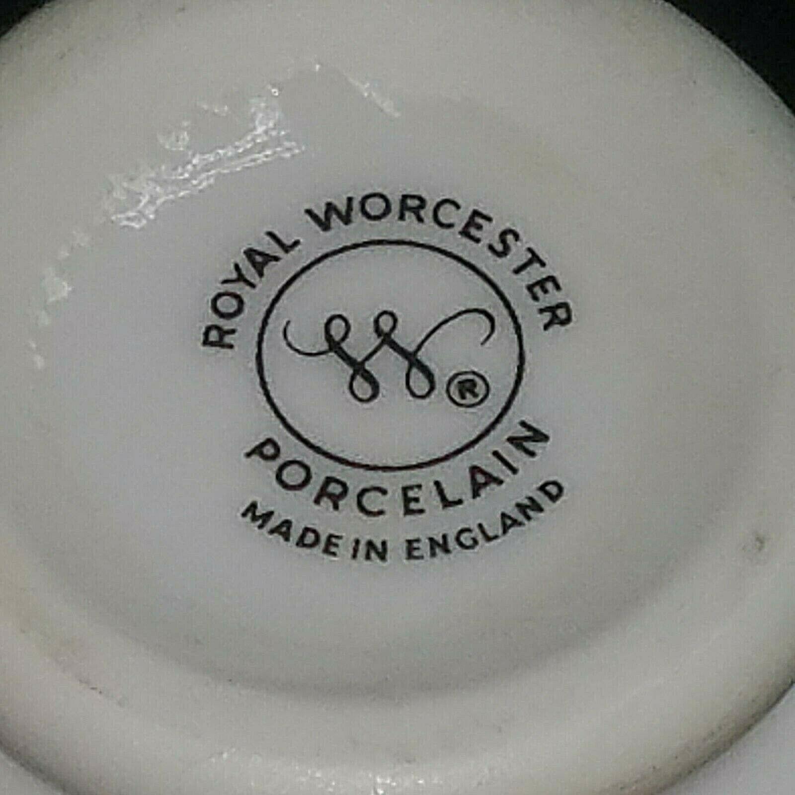 Egg Coddler Royal Worcester Porcelain Signed Floral Design Made in England Set