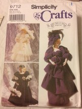 "2001 Simplicity Sewing Pattern 9713 17"" Decorative Dolls Once Upon A Time Uncut - $5.45"