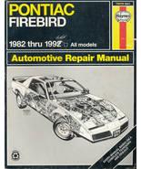 Haynes Repair Manual 79019 Pontiac FIREBIRD 1982 - 1992 - $12.00